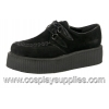 V-Creeper-502 Black Faux Suede
